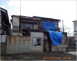 火災後の建物