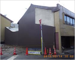隣家外壁補修後
