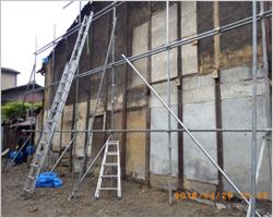 隣家外壁補修工事